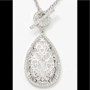 Touchstone Crystal lace work pendant NIB Exquisite